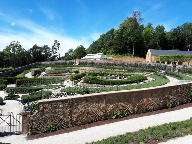 Parabola garden at The Newt Somerset